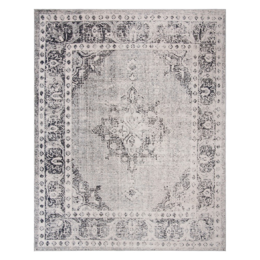 9'X12' Medallion Loomed Area Rug Gray/Ivory - Safavieh