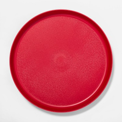 9.6  Plastic Kids Dinner Plate Red - Pillowfort™