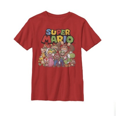 Boy's Nintendo Mario Characters T-Shirt