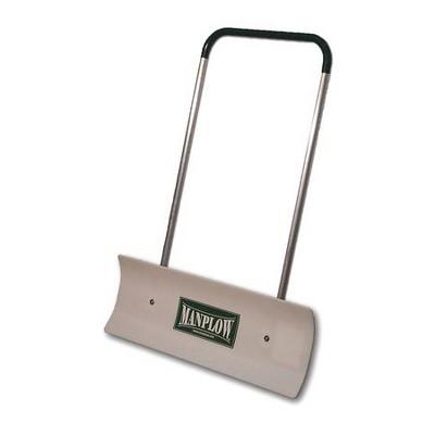 """MANPLOW REV32 32"""" HDPE Snow Shovel with 48"""" Aluminum Handle"""