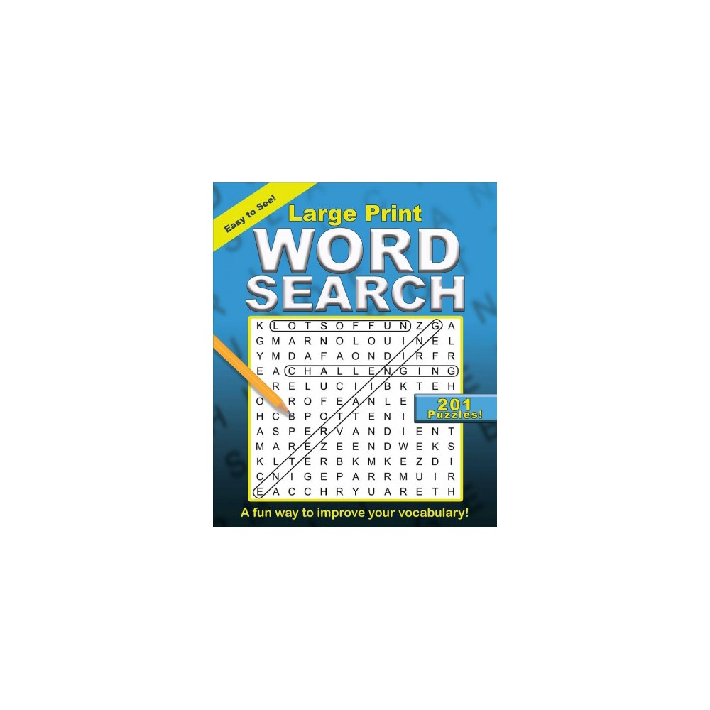 Large Print Word Search - Lrg (Paperback)