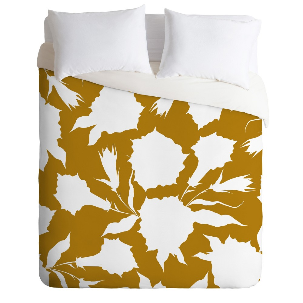 Full/Queen Iveta Abolina La Jardin Noir Duvet Cover Set Neutral - Deny Designs, Beige