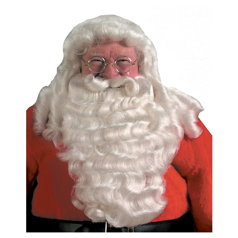 Image of Halloween Santa And Beard Costume Wig Set, Men's, White