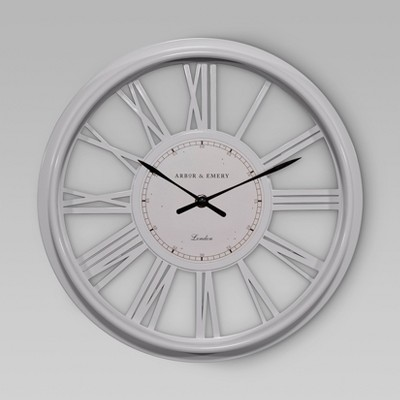 Decorative Wall Clock - White - Threshold™