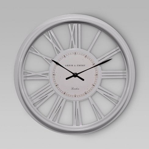 Decorative Wall Clock - White - Threshold™ : Target
