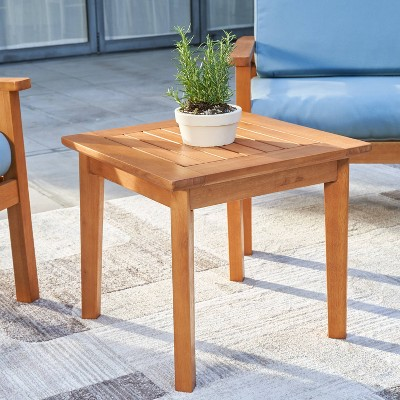 Gloucester Contemporary Wood Patio Side Table - Vifah