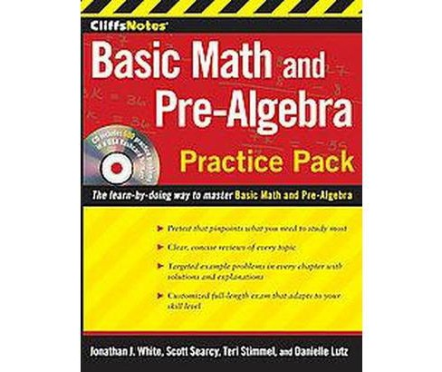 CliffsNotes Basic Math and Pre-Algebra Practice Pack (Paperback) (Jonathan J. White & Scott Searcy & - image 1 of 1