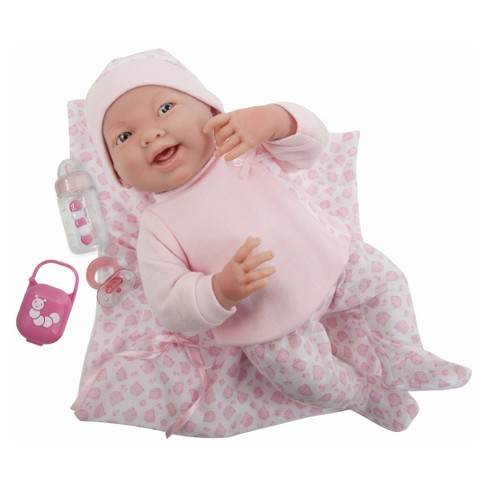"JC Toys La Newborn 15.5"" Doll - Pink Outfit with Blanket - image 1 of 4"