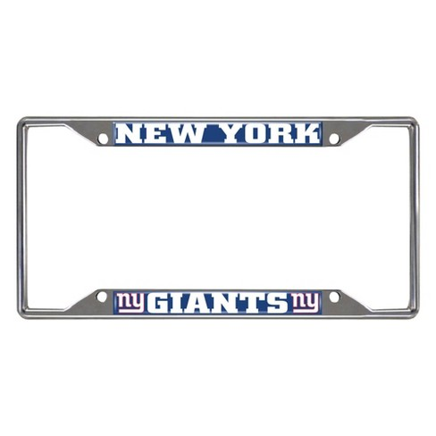 NFL New York Giants Stainless Steel License Plate Frame - image 1 of 3