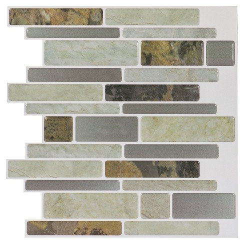 Decor 5 Pack Peel & Stick Mosaic Tile - Natural Linear - image 1 of 5
