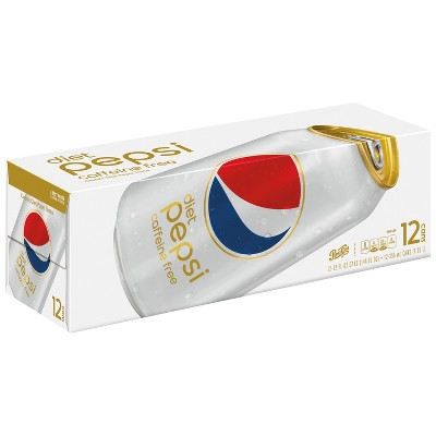 Diet Pepsi Caffeine Free Cola - 12pk/12 fl oz Cans