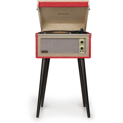 Crosley Dansette Bermuda Turntable with Bluetooth and Pitch Control - Red