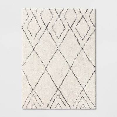 Diamond Patterned Shag Woven Rug - Project 62™