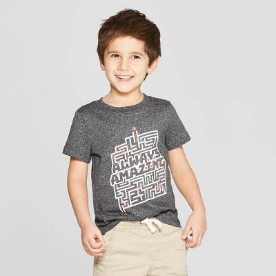 Toddler Boys' Short Sleeve Always Amazing T-Shirt - Cat & Jack™ Black 12M