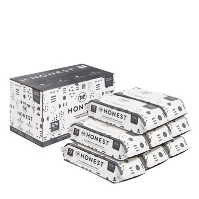 The Honest Company Plant-Based Baby Wipes Pattern Play (Select Count)
