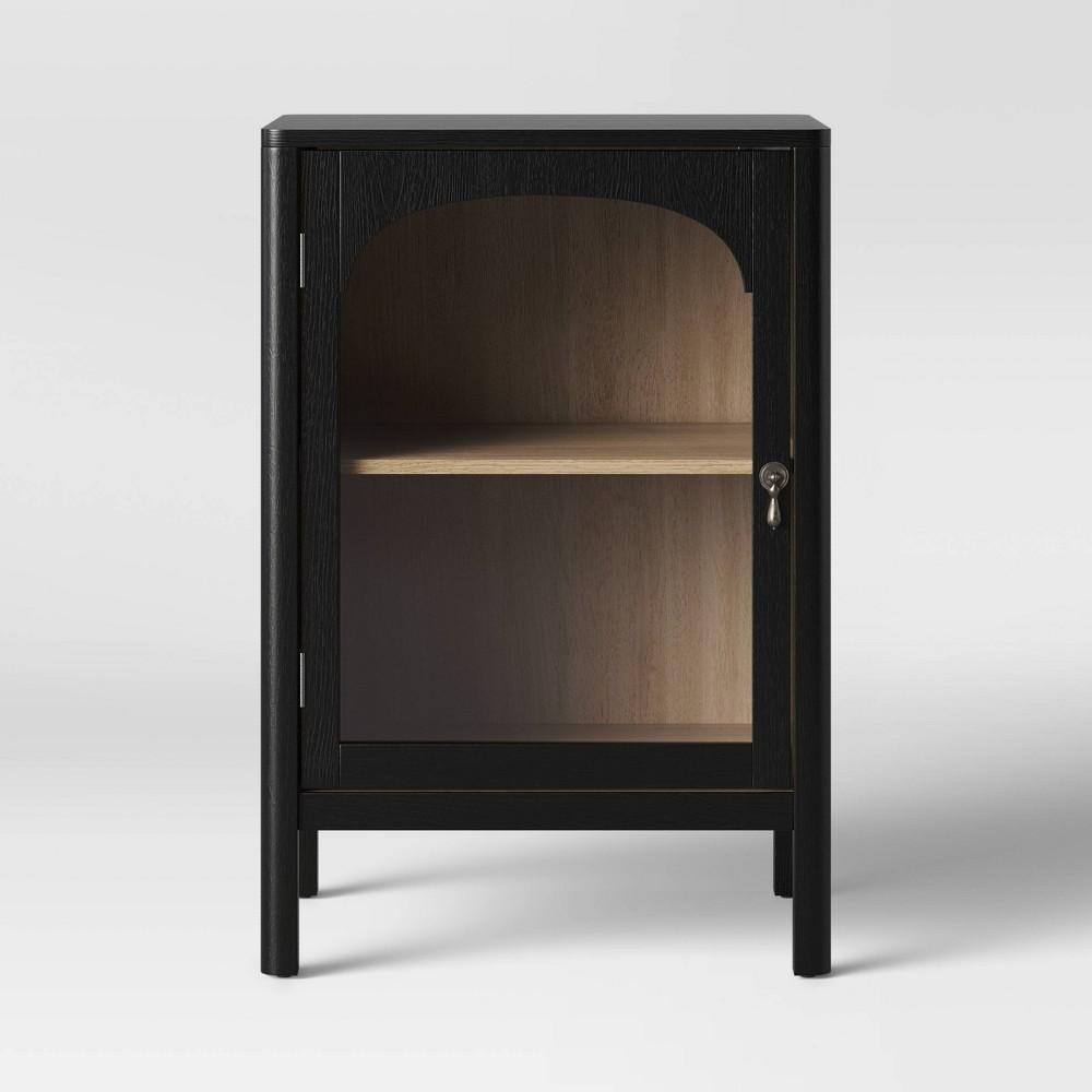 New Bedford 1 Door Cabinet Black - Threshold