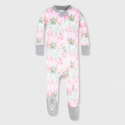 Burt's Bees Baby® Baby Girls' Tossed Succulent Organic Cotton Footed Pajama - Pink 18M