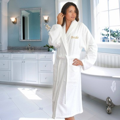 S/M Bride Bathrobe White - Linum Home textiles