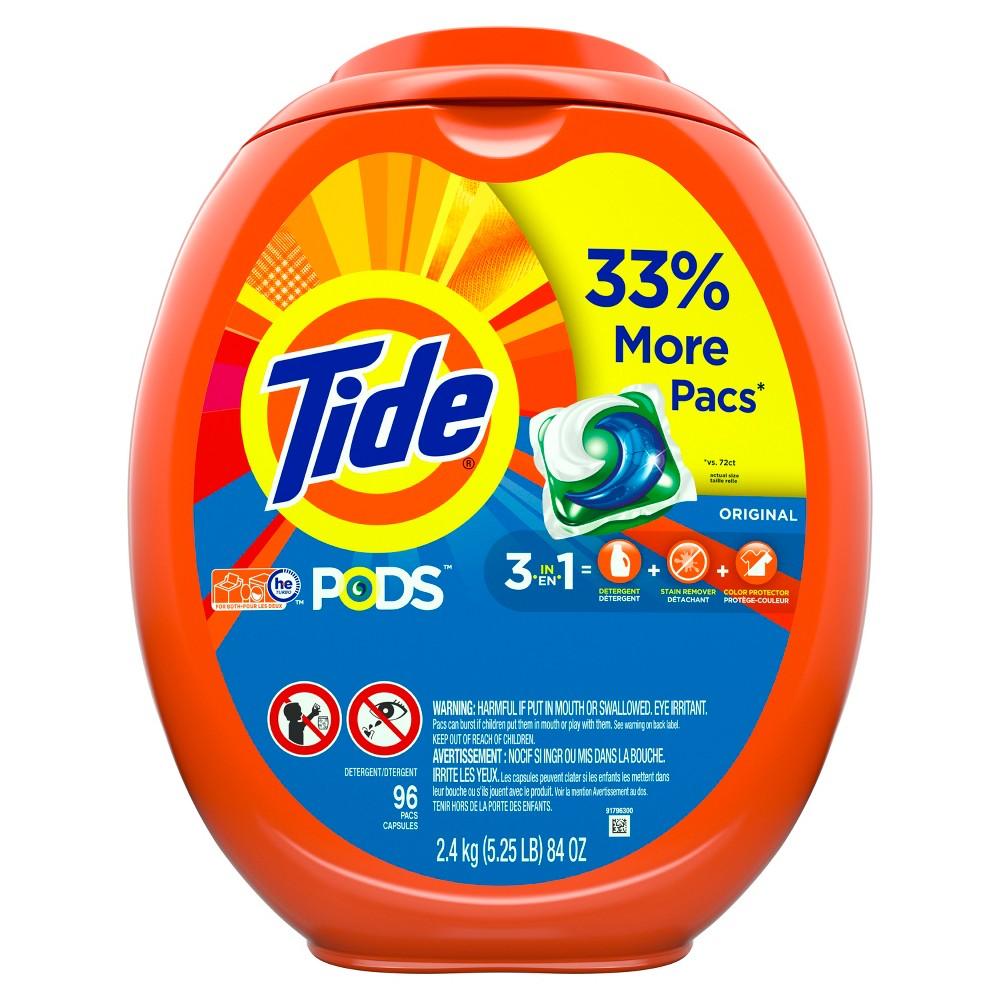 Tide Pods Original Liquid Laundry Detergent Pods - 96ct