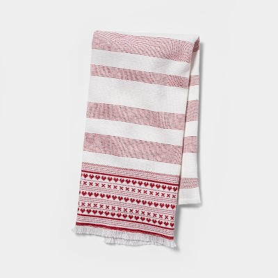 Dual Sided Terry Kitchen Towel with Dobby Print - Opalhouse™