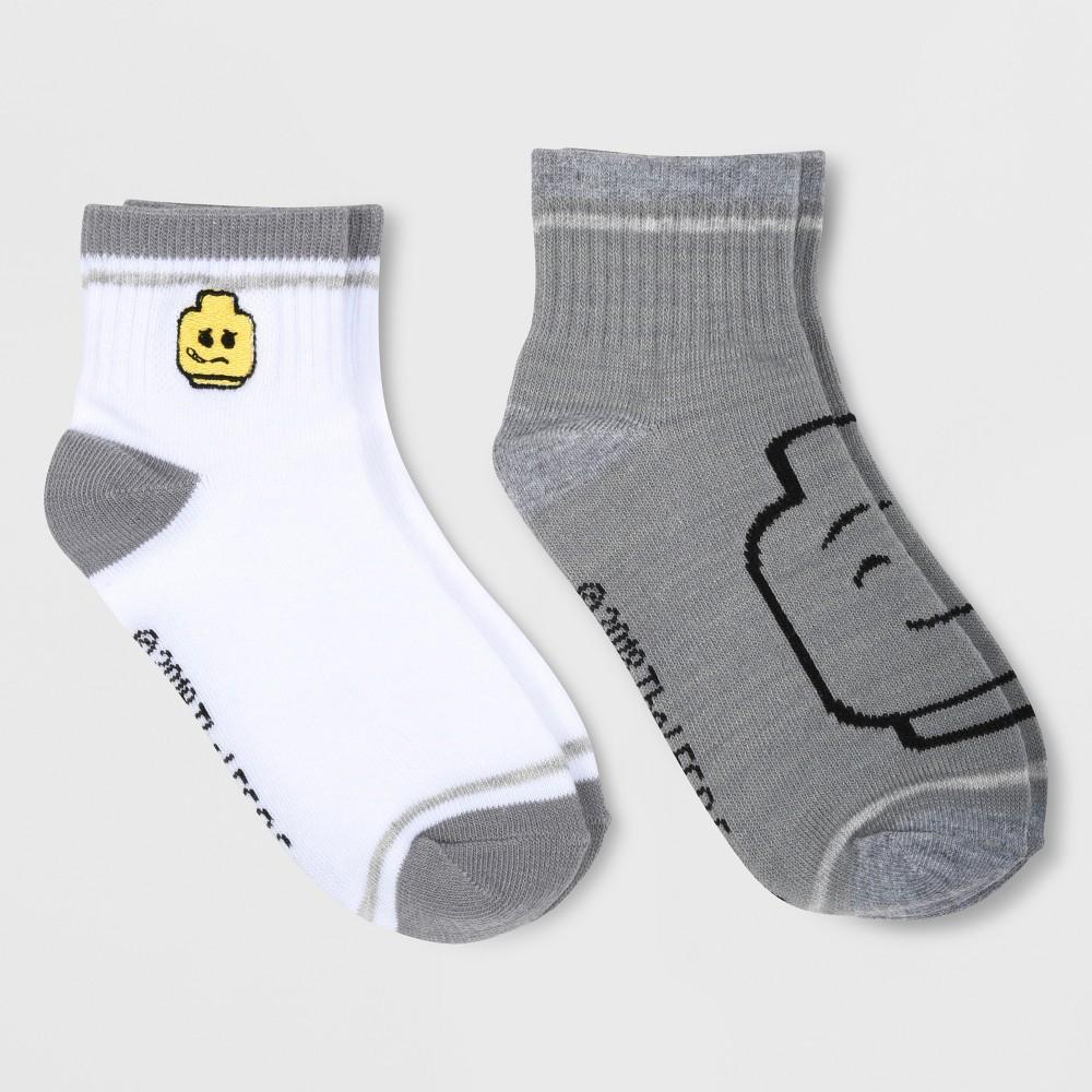 Kids' Lego 2pk Socks - Gray S/M, Kids Unisex