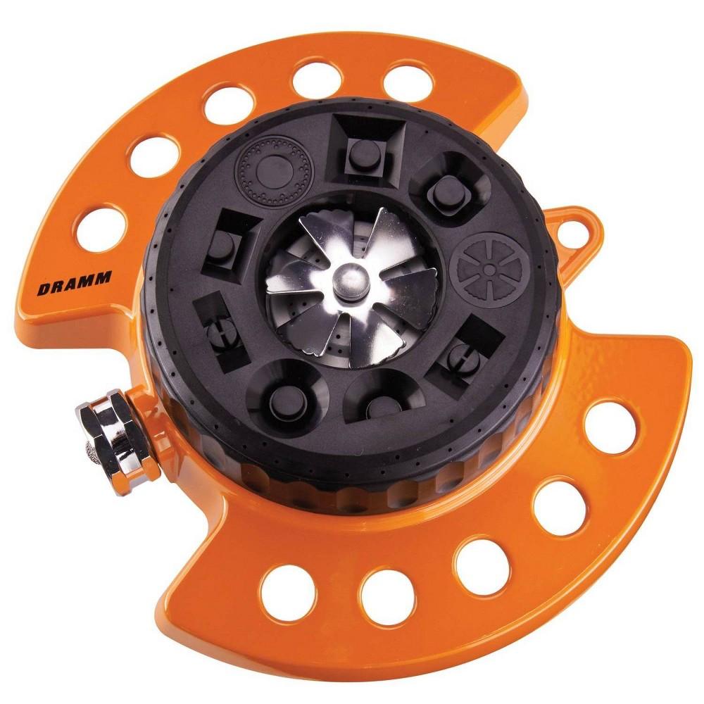 Image of ColorStorm 9 Pattern Turret Sprinkler Orange - Dramm