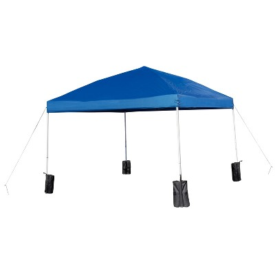 Flash Furniture 10'x10' Pop Up Event Straight Leg Canopy Tent with Sandbags and Wheeled Case