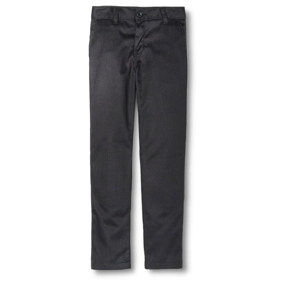 Image of Dickies Boys' Slim Fit Flat Front Pants - Black 10, Boy's