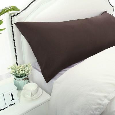 1 Pc Body 1800 Series Soft Brushed Microfiber Pillowcase Brown - PiccoCasa