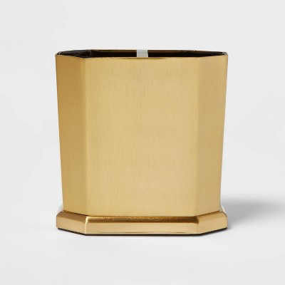 Solid Toothbrush Holder Faceted Gold - Threshold™