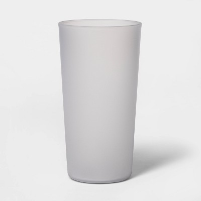 26oz Plastic Tall Translucent Tumbler Gray - Room Essentials™