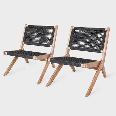 Athens 2pk Patio Chair Gray - Leisure Made