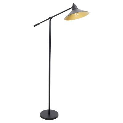 "67"" Paddy Floor Lamp Black/Gold - LumiSource"