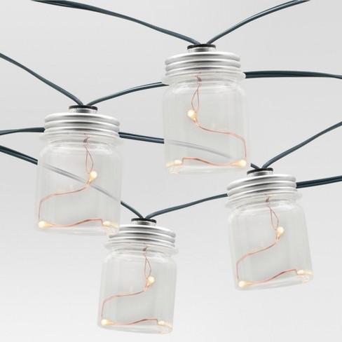 20ct Outdoor Led Plastic Mason Jar