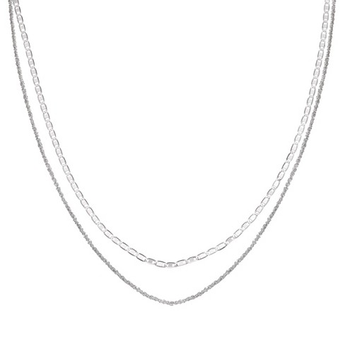 """Women's Flat Anchor Choker Necklace with 4"""" Extender in Sterling Silver - Gray (12"""" + 4"""") - image 1 of 1"""