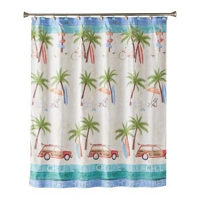 Paradise Beach Shower Curtain Multi - Colored - Saturday Knight Ltd.