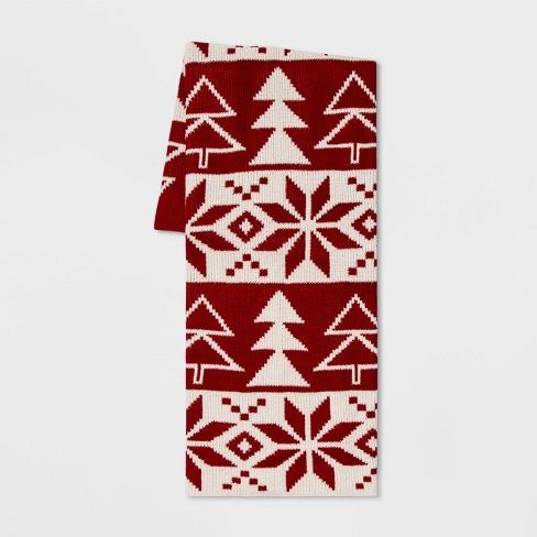Fair Isle Chenille Throw Blanket - Threshold™ - image 1 of 1