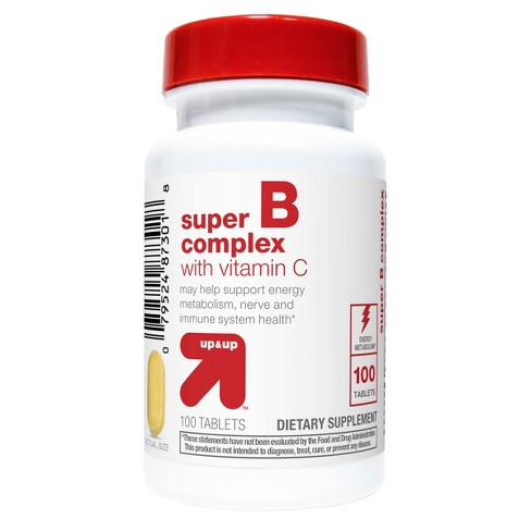 Super B Complex With Vitamin C Dietary Supplement Tablets - Up&Up™
