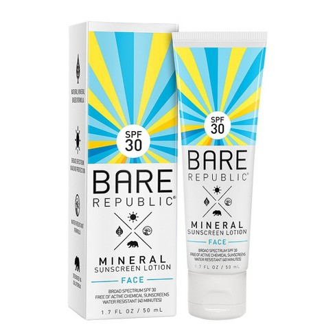 Bare Republic Mineral Sunscreen Face Lotion - SPF 30  - 1.7oz - image 1 of 3