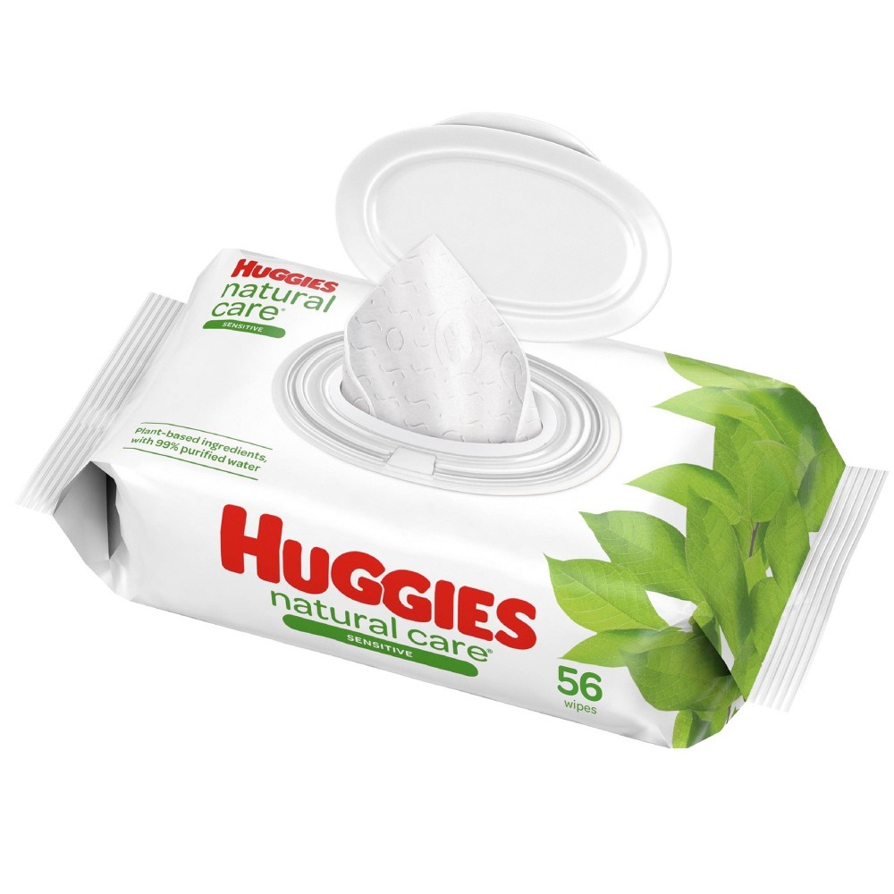 Huggies Natural Care Sensitive Unscented Baby Wipes 56ct