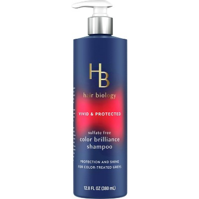 Hair Biology Color Brilliance Shampoo with Biotin Vivid & Protected for Gray or Color Treated Hair - 12.8 fl oz.