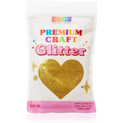 Bright Creations Gold Fine Holographic Glitter for Slime, Resin, Art and Crafts Supplies (7oz)