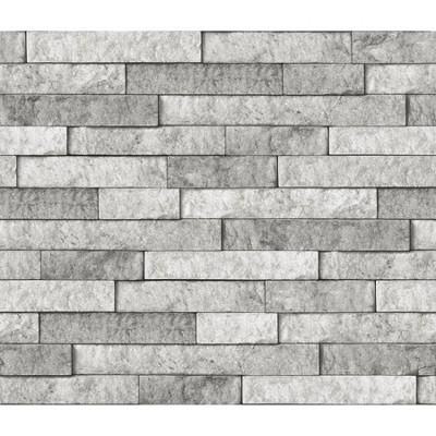 Brewster Stone Peel & Stick Backsplash Gray