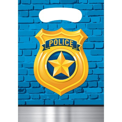 8ct Police Party Favor Bags