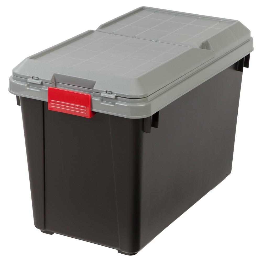 Image of Iris 102qt Heavy Duty Plastic Storage Bin, Black