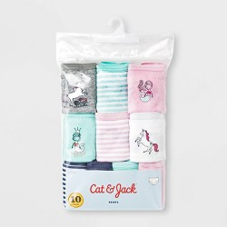 Toddler Girls' 10pk Mermaid Print Boxer Briefs - Cat & Jack™ Teal