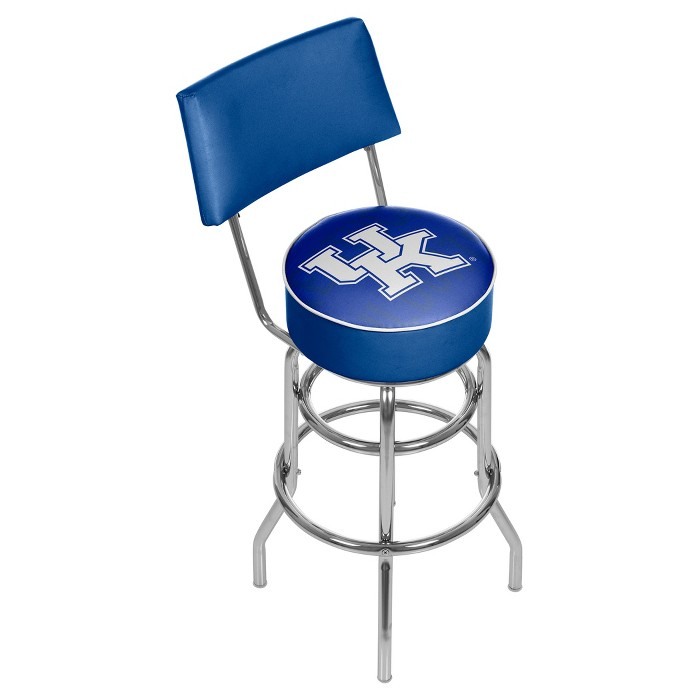 NCAA Kentucky Wildcats Padded Swivel Bar Stool with Back - Wordmark - image 1 of 3
