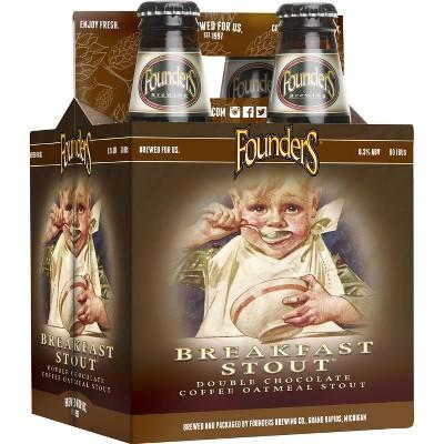 Founders Breakfast Stout Beer - 4pk/12 fl oz Bottles