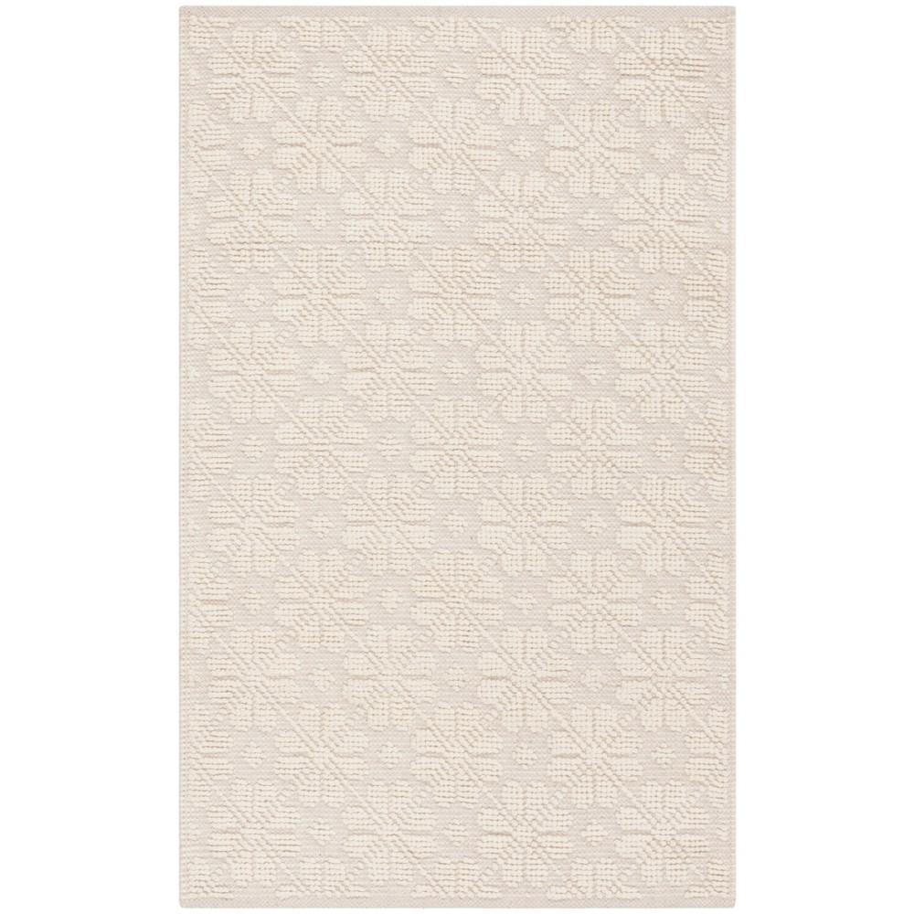4'X6' Woven Geometric Area Rug Ivory - Safavieh, White