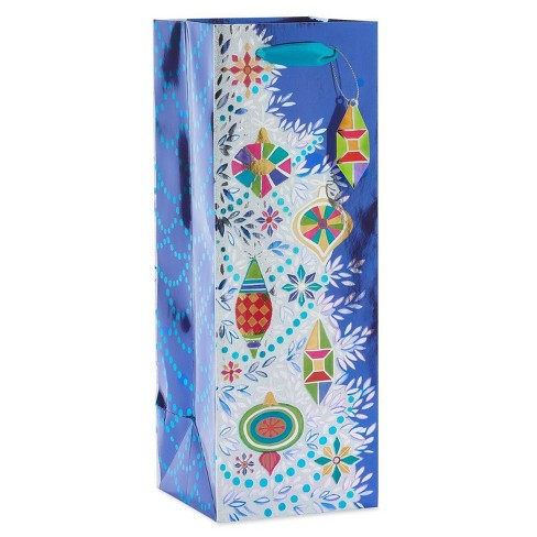 Papyrus Christmas Ornaments and Gems Beverage Gift Bag - image 1 of 3